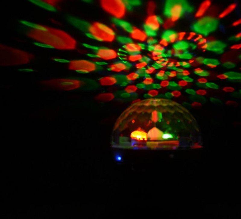 Rotating Magic Ball Speaker Light with Wireless Bluetooth Speaker Mini Card Slot Rotating for KTV Xmas Party Club Pub Disco DJ