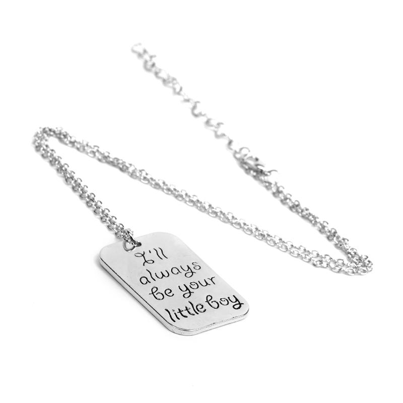 I'll Always be your little Girl Little Boy Hero Dog Tag Necklaces Silver Best Friends Family Member Jewelry for Daughter Son Gift 162123