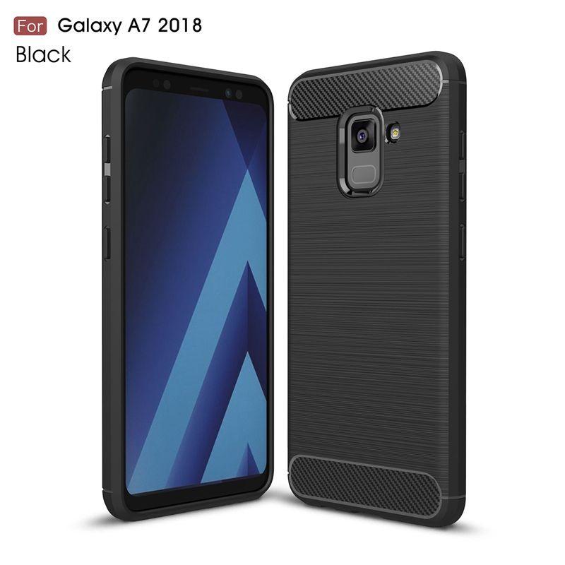 dfb816f42ff Carcasas Moviles Para Samsung Galaxy A7 2018 Carcasa Híbrida Súper Armadura  Textura De Fibra De Carbono Cepillado Suave Tpu Funda De Silicona Para  Samsung ...