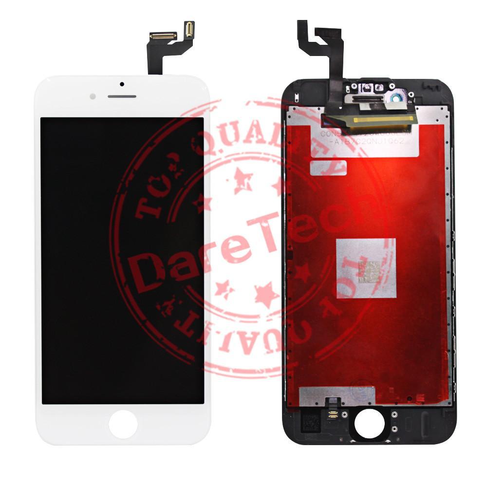 لأسود $ الأبيض شاشة LCD التي تعمل باللمس محول الأرقام شاشة كاملة مع الإطار استبدال الجمعية كامل ل iPhone 6S 6S فون زائد
