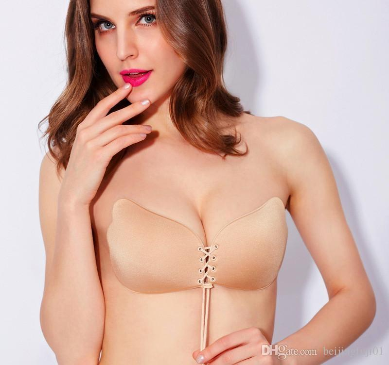 Butterfly Wing Invisible Bra Self Adhesive Silicone Invisible Push-up Bras Magic Invisible Bra Stick On Strapless Backless