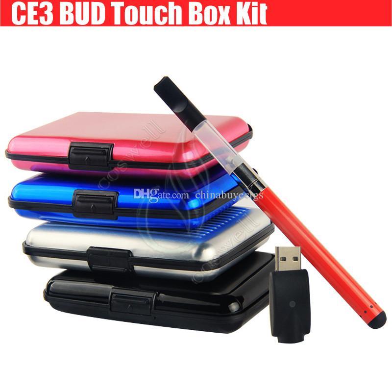 CE3 Bud Touch Colorful Box Kit 510 Patron Tjock Olja Vaporizer Atomizer O Pen Vapor Tjock vaxartad Vape E cigs Mini Cartomizers Wax Tank DHL