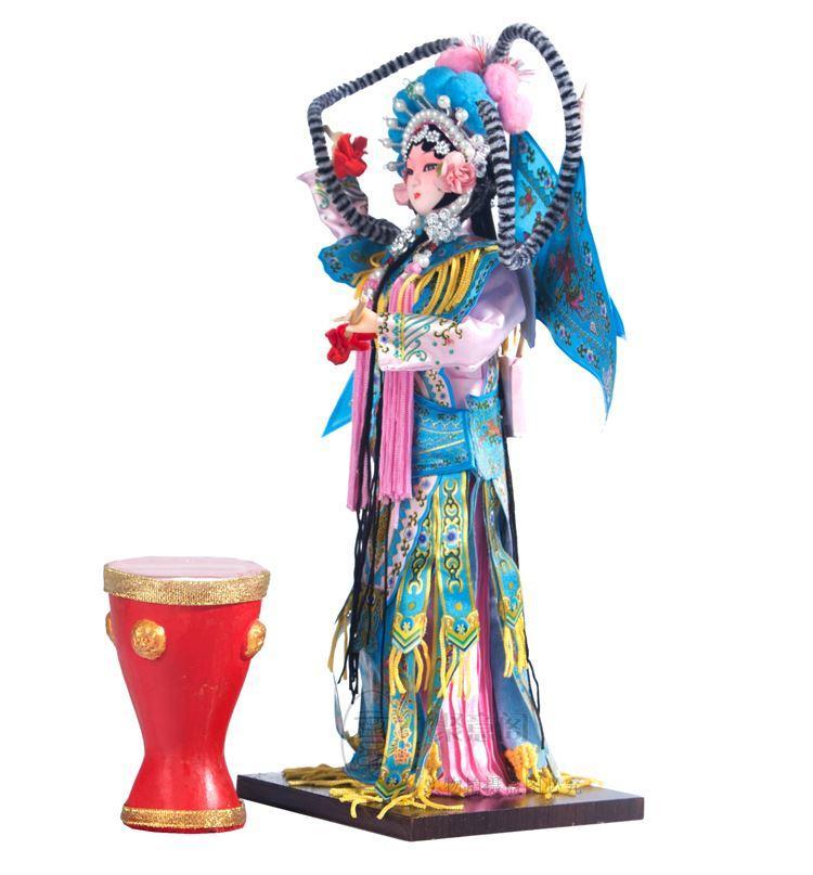 Caratteristiche di spedizione di Pechino bambola di seta Cina arti del vento Opera di Pechino all'estero decorazione a risparmio energetico