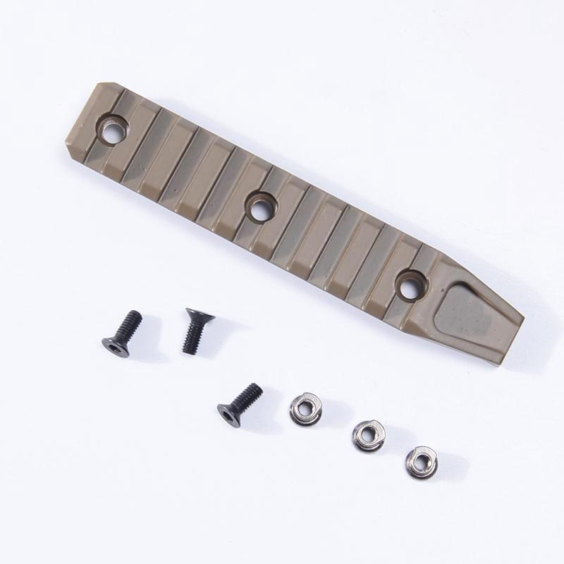 SINAIRSOFT BD 9 Slots picatinny Rail Panel KeyMod For AIRSOFT URX4 Handguard Rail Black and Dark Earth
