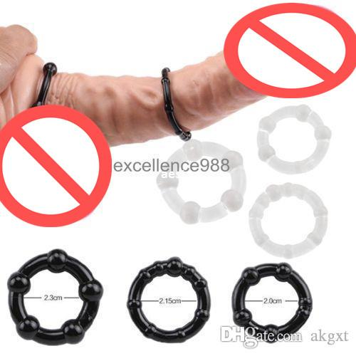 Rubber cock rings single posing rings delay silicone