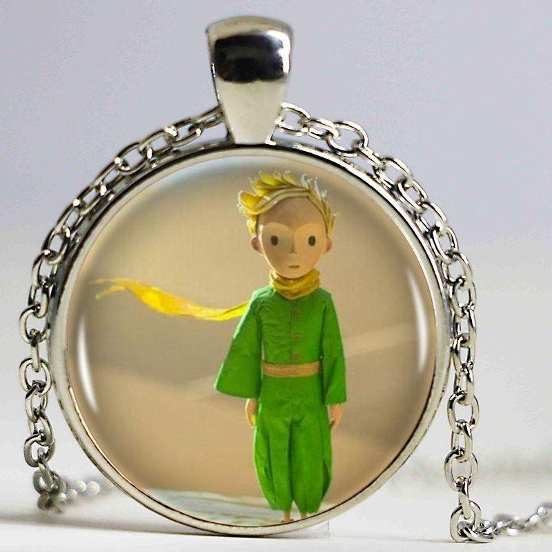O Pequeno Príncipe Logotipo Cadeia De Cobre Mulheres Gargantilha Declaração de Cobre Pingente de Colar Para Os Homens Se Vestem Acessórios