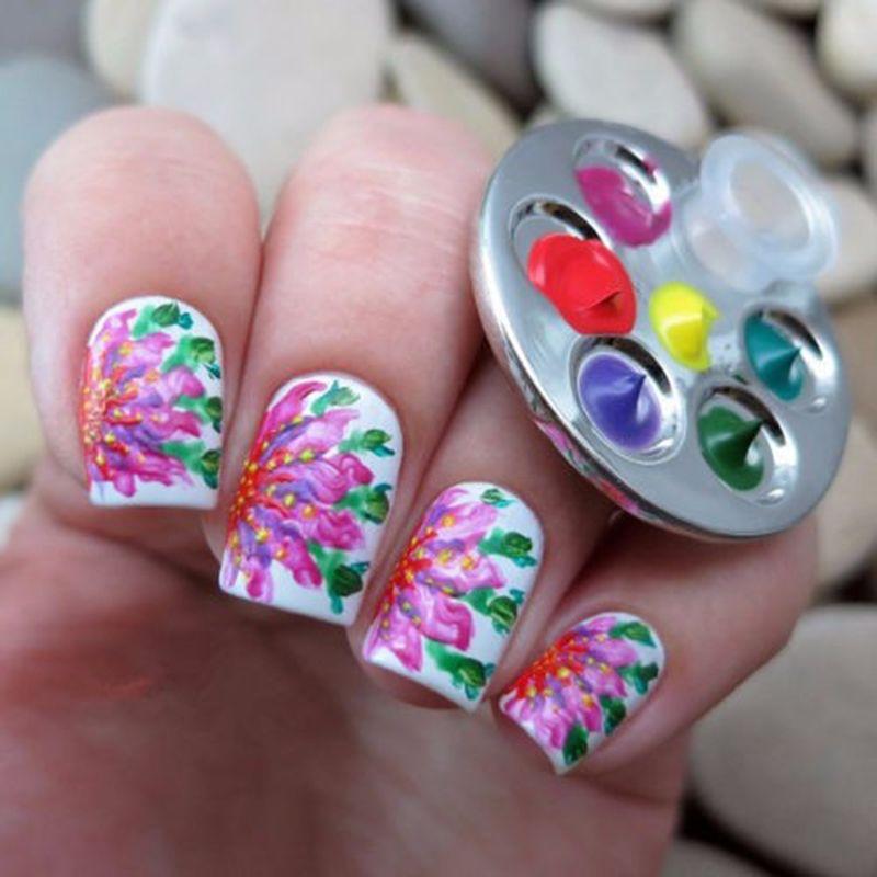 Wholesale Mini Nail Art Metal Finger Ring Palette Mixing Acrylic Gel