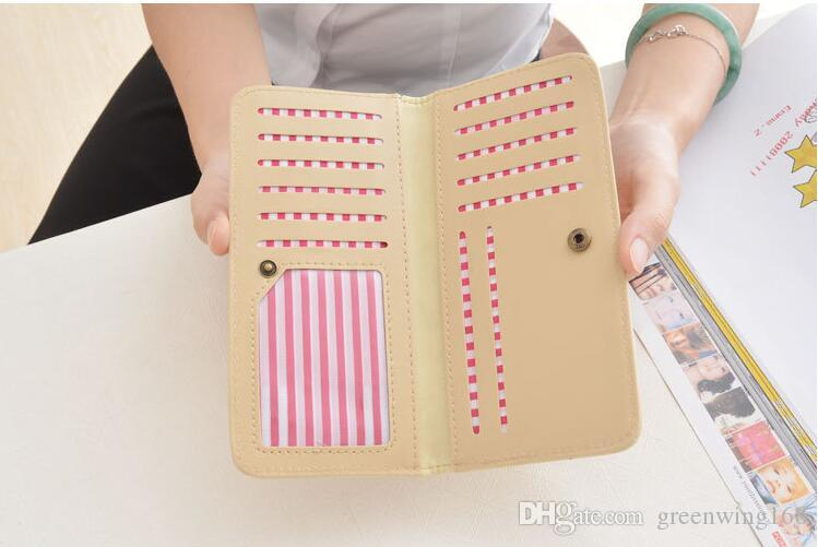 Fashion New Pattern Multi Function Long Hasp Women Wallets Large Pocket 2 Fold Credit Card Holder Wallet