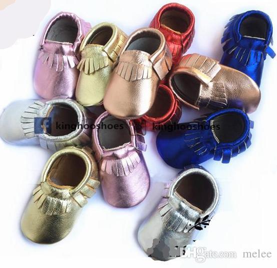 kinghoo baby blink marche moccs chaussures mocassins en cuir pour bébés métalliques chaussures pour enfants filles chaussures garçons botties pour bébés tout-petits