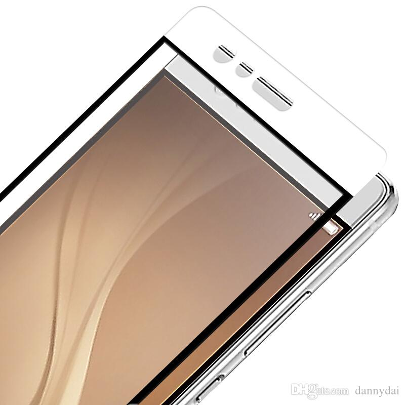 For Huawei P9 Lite Tempered Glass P8 P10 Full Cover Protector IPHONE 7 Screen 9H Covered