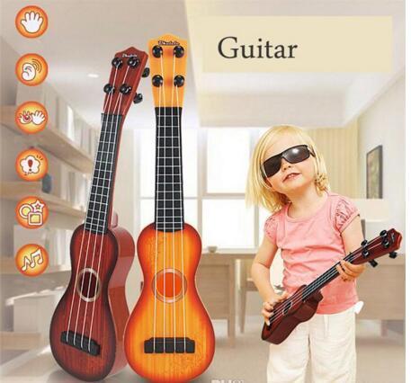 38cm Mini Ukulele Guitar Music Simulation Instrument Plastic Guitars ...