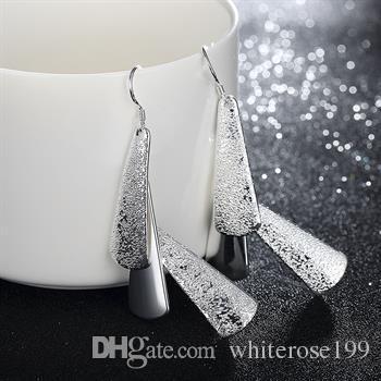 Partihandel - lägsta pris julklapp 925 sterling silver mode örhängen E015