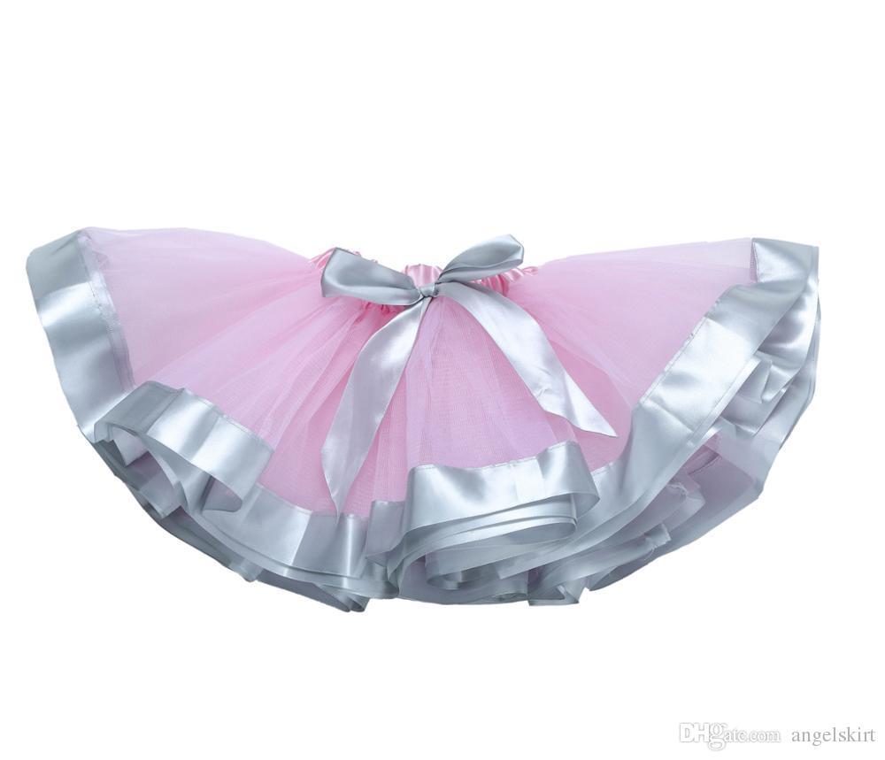 Cheap Golden Ribbon Weaving Ruffle Handmade Kids Ballet Tutu For Party Costumes Baby Girls Tutu Skirt