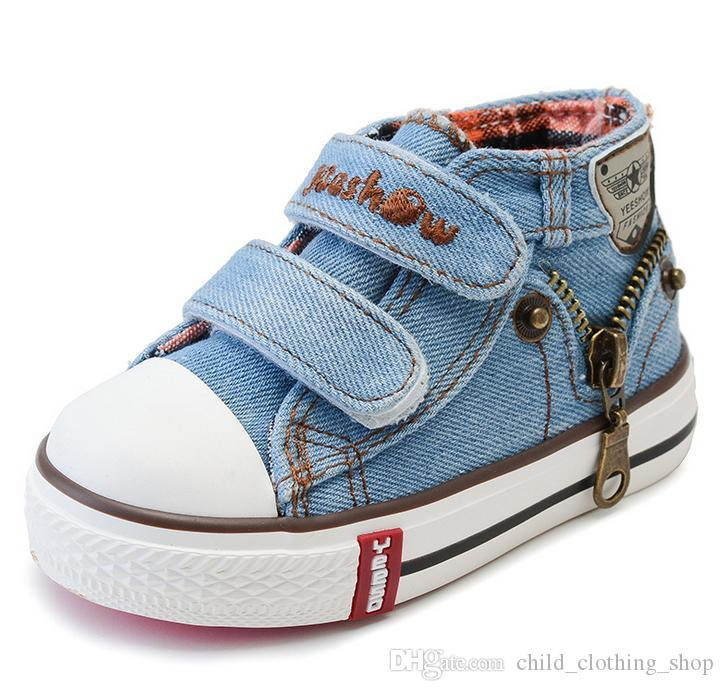 b40a31eec5a6b 2017 Canvas Children Shoes Boys Sneakers Brand Kids Shoes For Girls Baby  Jeans Denim Flat Boots Toddler Shoes YS66 Kids Sparkle Shoes Buy Online  Kids Shoes ...