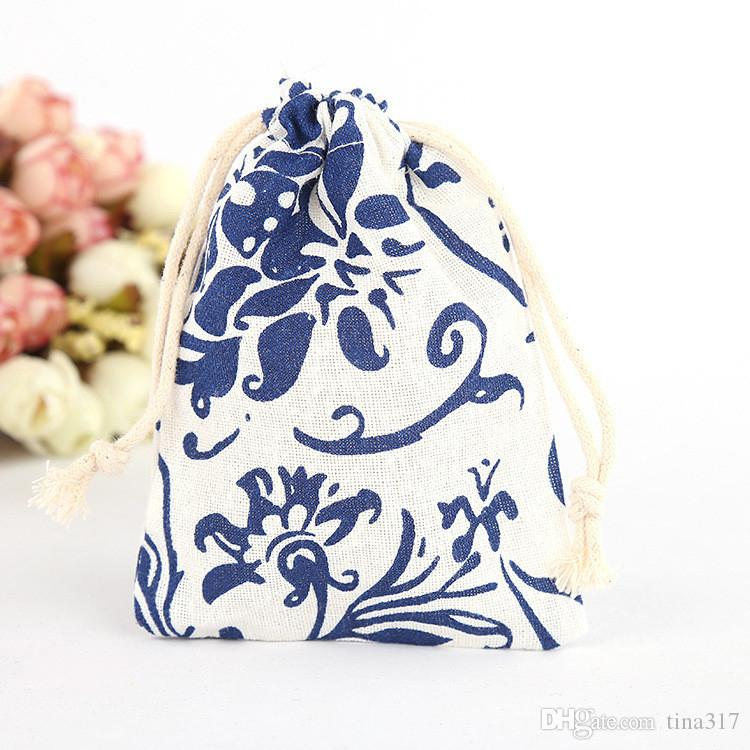 New Small Gift Bag Jewellery Pouch Decorative Wedding Birthday Party Tea Candy Favor Bags Jewelry Packaging CC559