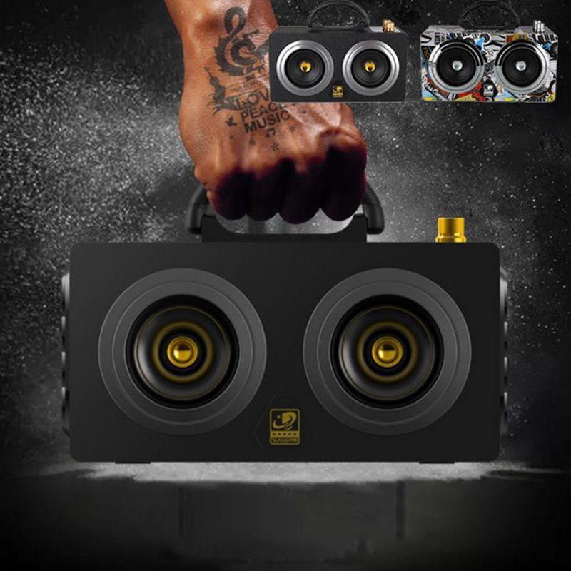 20W portátil de madera de alta potencia Bluetooth Altavoz Dancing Altavoz Estéreo inalámbrico Super Bass Boombox Radio Receptor Subwoofer