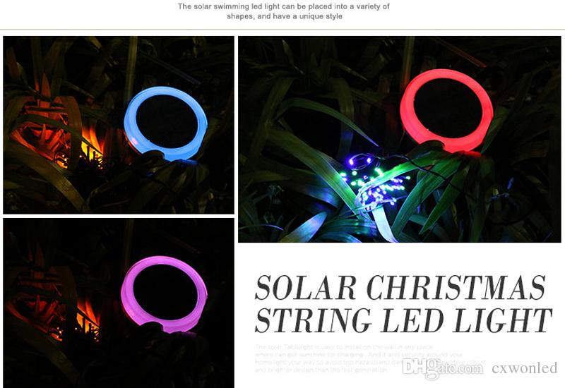 Solar fairy string lights 10m colourful waterproof leds string light for outdoor christmas party lawn lamp
