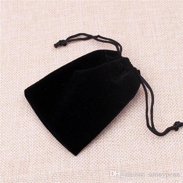 Wholesale 5*7cm High Quality Velvet Jewelry Packaging Bags Drawstring Candy Storage Pouches Can Customize Logo Displaying Bags