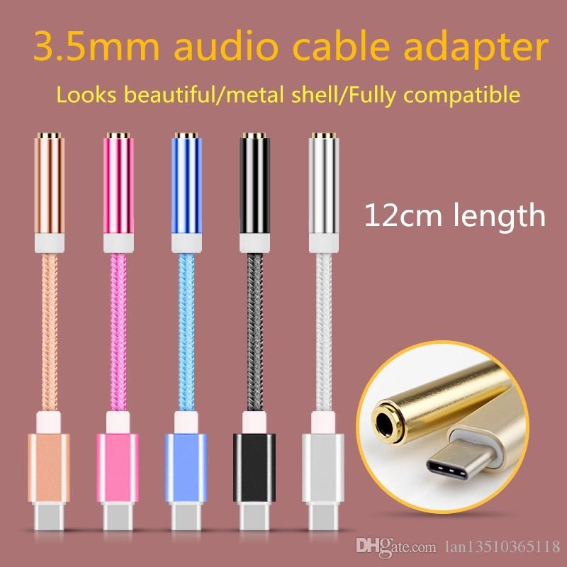 12 см аудио адаптер мужской тип-C до 3.5 мм разъем женский аудио AUX кабель Covertor для Nexus 5X 6P / OnePlus 2 / Lumia 950 950XL1