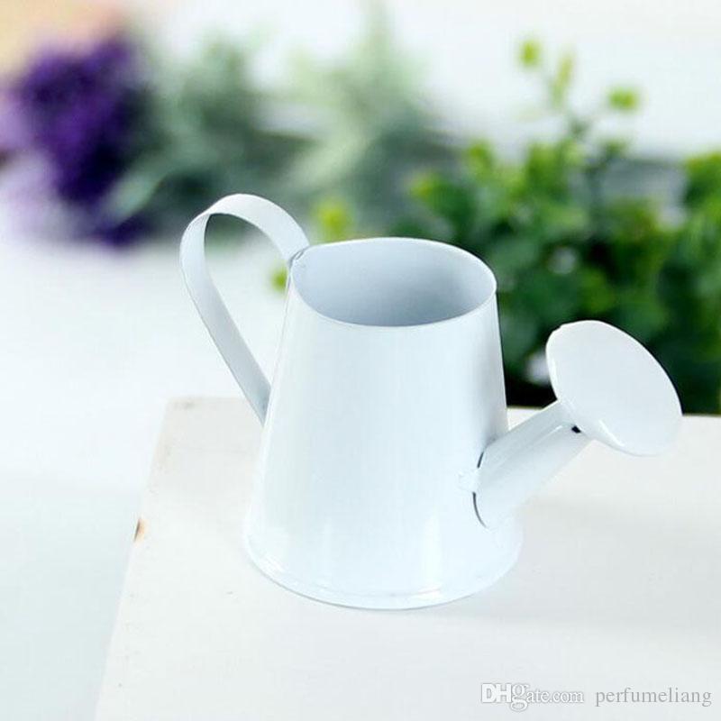 Moda metallo ferro vaso di fiori Mini Craft Fairy Garden Plant Planter bollitore Micro paesaggio decorazione della casa ZA4123