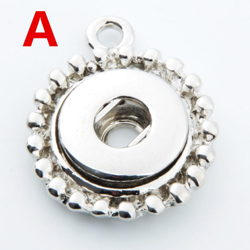High Quanlity 12mm Noosa Style stainless steel Simple Design Snap Buttons Base Interchangeable Accessories for NOOSA Jewelry