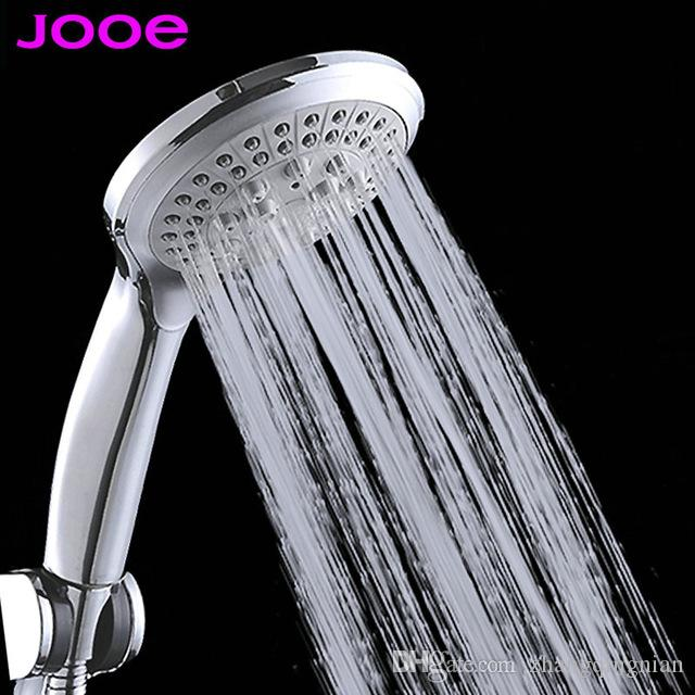 2018 Water Saving Round Shower Head Abs Plastic Hand Hold Rain ...