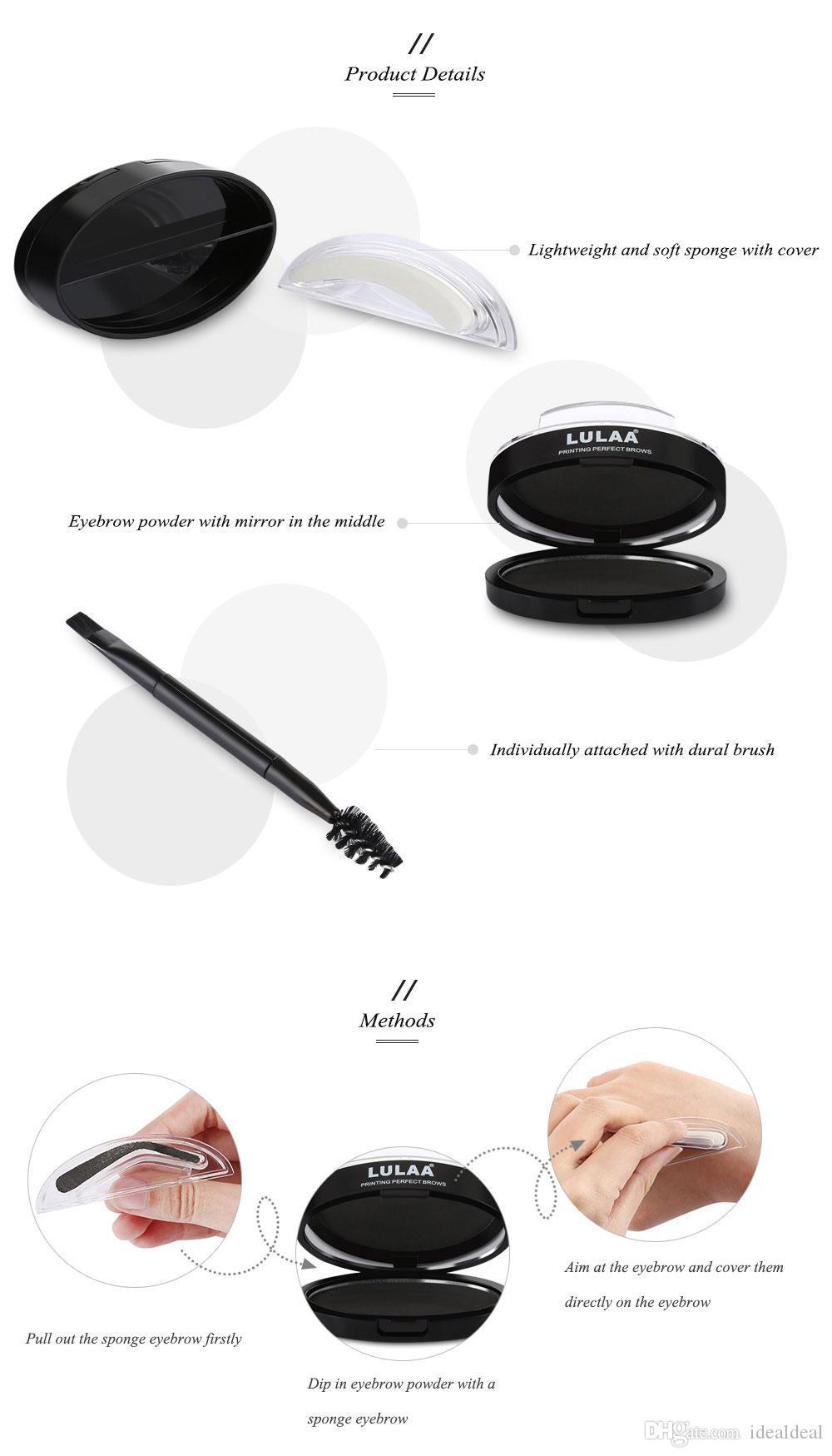 9 форма про природные арочные бровей штамп бровей марки порошок палитра Delicated красоты макияж инструмент бровей порошок печать с кистью