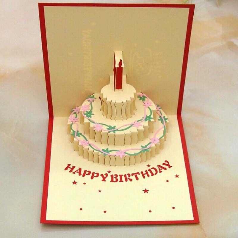 Birthday Cake Shape 3d Pop Up Birthday Greeting Card Virtual Gift – Pop Up Birthday Cake Card