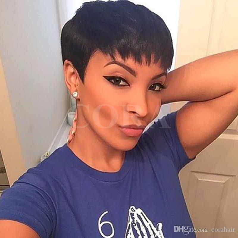 pixie cut styles for black hair black pixie cut black huamn hair black 2197
