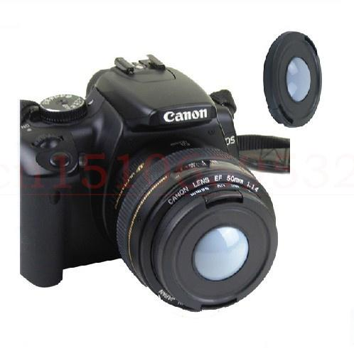 Wholesale-49/52/55/58/62/67/72/77/82mm Front White Balance Lens Cap Cover for DSLR Camera