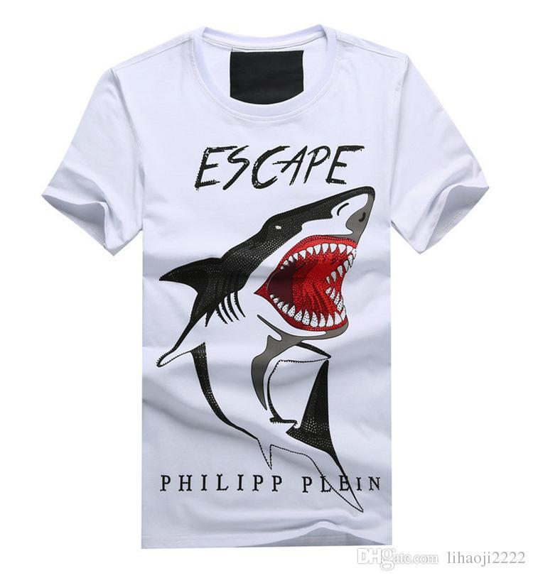 European Size O Neck Short 3d T Shirt Shark Print Design Casual ...