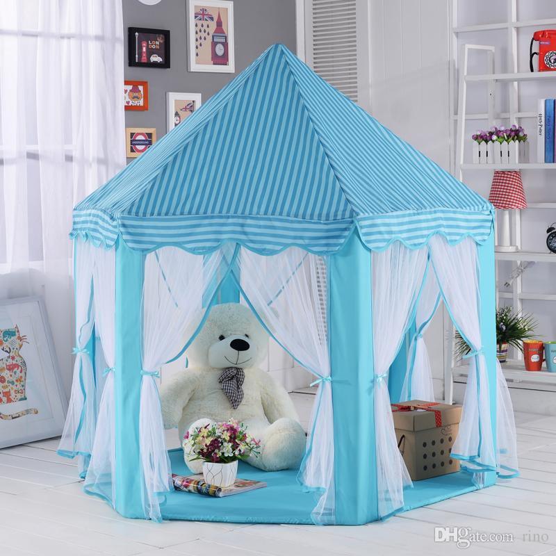 Kids Play Tents Prince Princess Party Tent Children Indoor Outdoor Tent Big  Game House Three Colors Kids Play Tent Party Tent Outdoor Tent Online With  ...