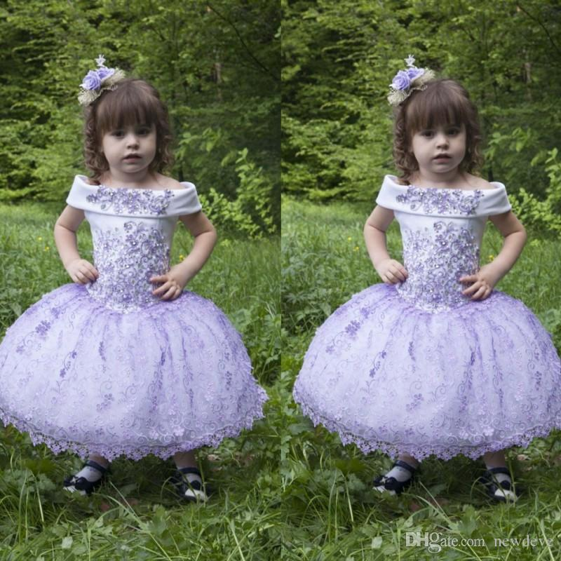 Lace Flower Girl Dresses Grape