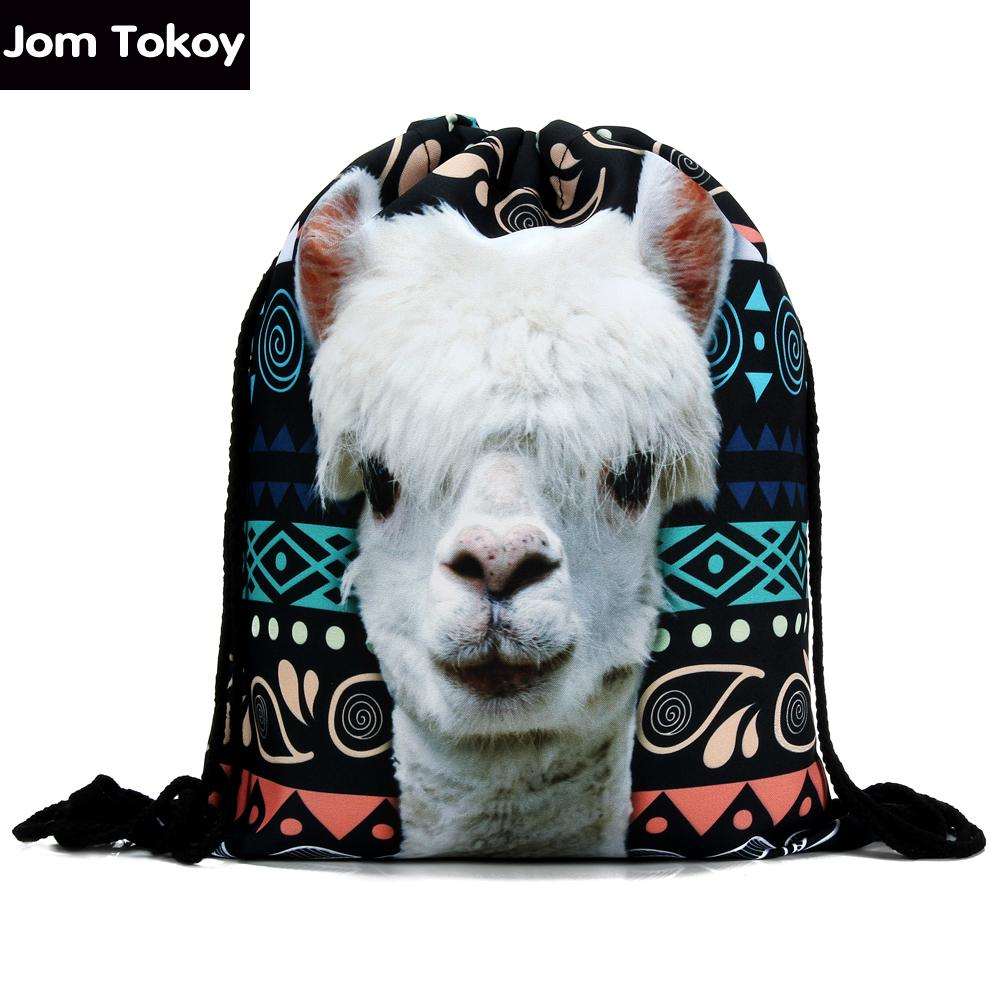 9d7e6910446 Wholesale 2016 New Fashion Women Backpack 3D Printing Travel Softback Women  Llama Aztec Drawstring Bag Mens Backpacks Girls Backpack Book Bags Herschel  ...