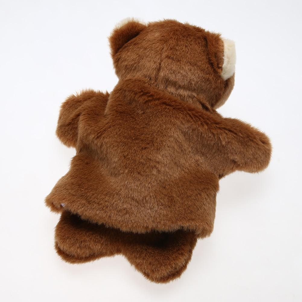 Lovely Brown bear Hand Puppet Toys Baby Kids Developmental Educational Plush Doll Toy Funny Family Games