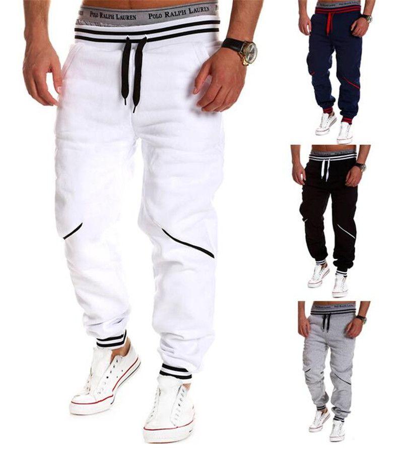 Compre Moda Para Hombre Joggers Moda Skinny Harem Pantalones Hip Hop Slim  Fit Pantalones De Chándal Para Hombre Jogging Dance Sport Pants A  10.66  Del ... 50d6d9d9860e