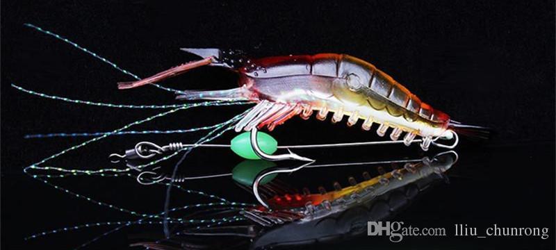 9 cm 5.5g Luminoso Camarón Gancho de Pesca Ganchos Anzuelos Cebos Suaves  Señuelos de Pesca Aparejos de Pesca LL-020