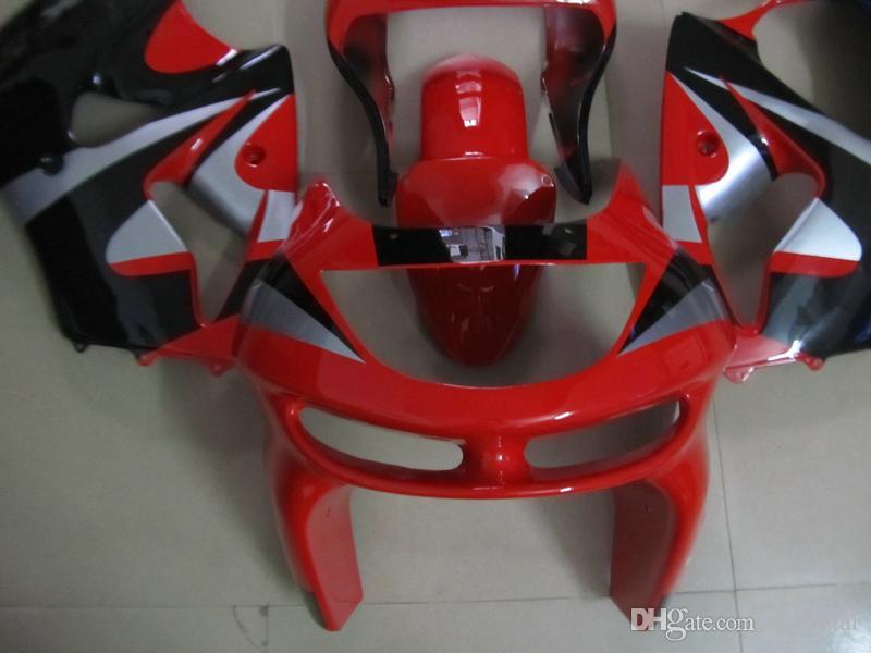 High quality plastic Fairing kit for Kawasaki Ninja ZX6R 1998 1999 red black fairings set ZX6R 98 99 OT11