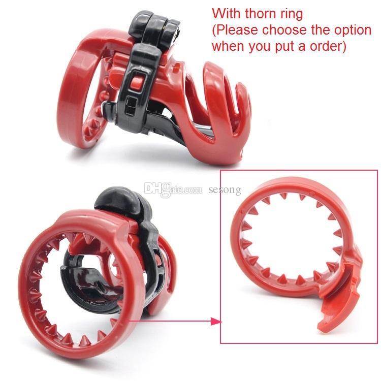 dispositifs de chasteté cock cages pénis retenue nouvelle conception 3D en plastique CB serrure en résine avec anti-anneau