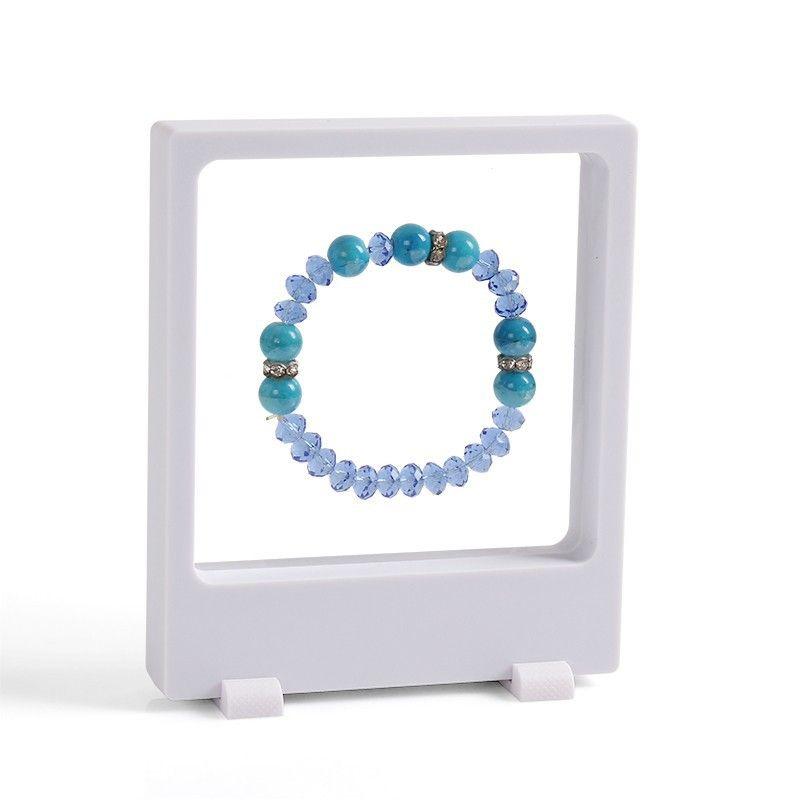 3D transparent Jewelry Display Holder Pendant Earring Storage Showcase PET Membrane Picture Bracelet Display Window Rack Holder 9*11cm