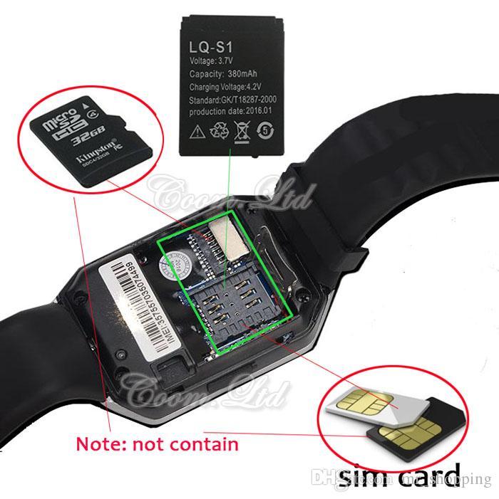 DZ09 Akıllı İzle Wrisbrand Android Akıllı SIM Akıllı cep telefonu izle uyku durumunu kaydedebilir GT08 U8 A1 Akıllı İzle de stokta