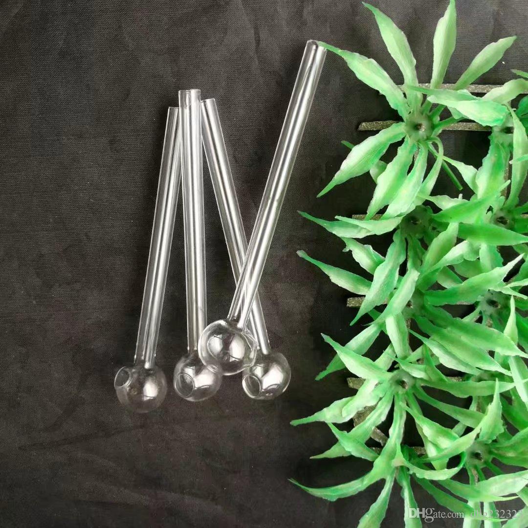 La longitud de los accesorios de bongs para ollas opcionales, pipas de agua para tubos de agua de vidrio percolador Bongs de vidrio Quemador de aceite Tuberías de agua Plataformas de aceite Fumadores