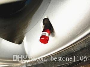 4 pz / lotto valvola a sfera in alluminio cap moto auto moto cilindro zigrinatura in lega valvola della gomma stem tappo US valvola parti di auto-styling