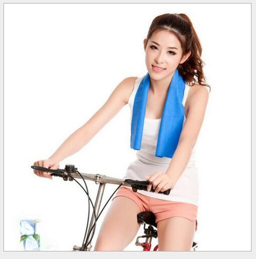 Холодное полотенце упражнение пот лето лед полотенце 80*16 см Бесплатная доставка спорт лед прохладный полотенце ПВА 400 шт./лот