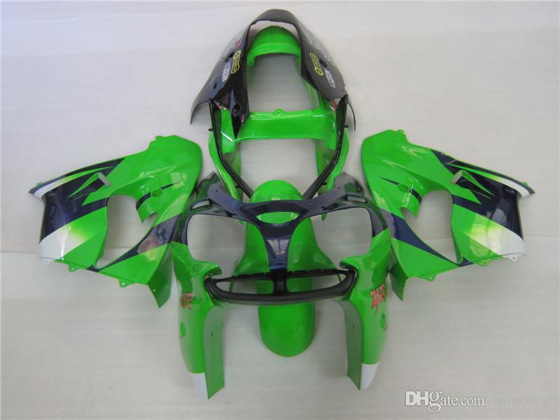 Motorcycle Fairing kit for Kawasaki Ninja ZX9R 2002 2003 green black fairings set ZX9R 02 03 OT05