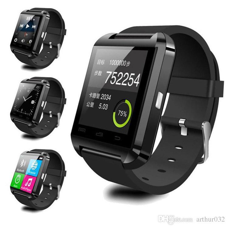 U8 bluetooth smart watch u saatler dokunmatik bilek kol smartwatch iphone 4 4 s 5 5 s samsung s4 s5 için not 3 htc android telefon akıllı telefonlar