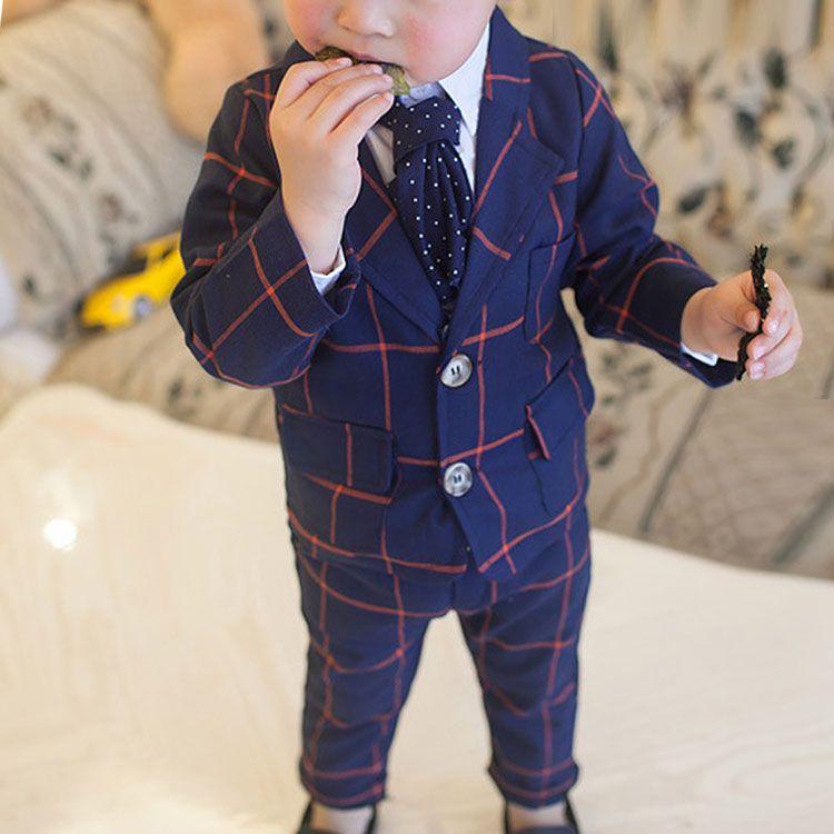 b6e1b7977c4f 2017 New Autumn Baby Boys Handsome Western Style Cotton Plaid Long ...