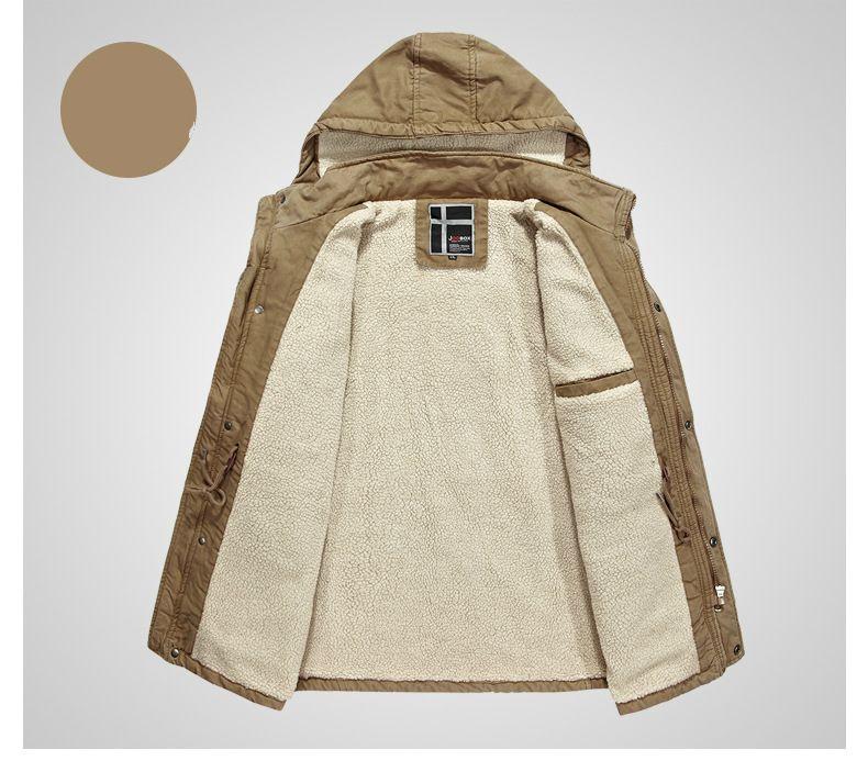 Fur Hood Coat Men's Long Jacket Winter Parkas Woolen Overcoat Thicker Warm Outwear Windbreakers Large Size L-XXXL Brand Clothing