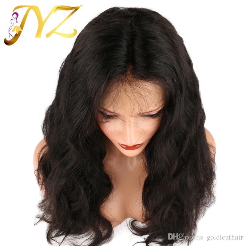 Pelucas llenas del cordón Peluca brasileña de calidad superior ondulada Precio al por mayor Peluca llena media del cordón de Brown Pelucas delanteras arqueadas pre del cordón con el pelo del bebé