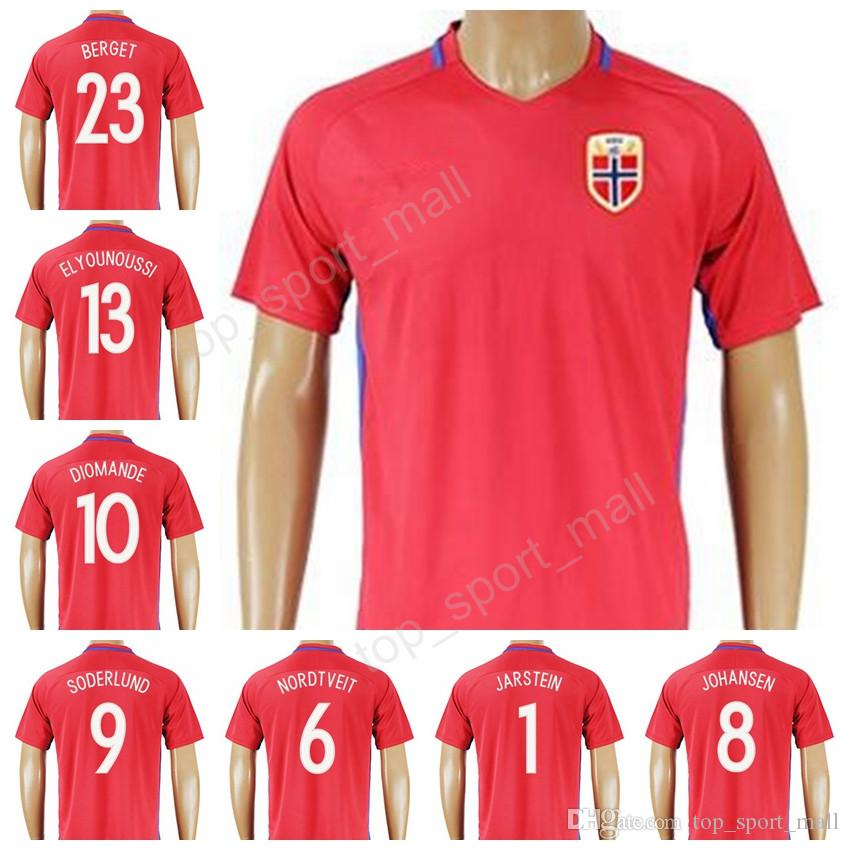 73f51031b 2019 2017 Norway Soccer Jersey Personalized 8 JOHANSEN 13 Tarik Elyounoussi  Football Shirt Uniform Kits Tshirt 6 Riise 1 JARSTEIN 9 SODERLUND From ...